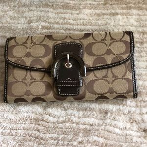 Authentic Coach Wallet - Brown w/ Leather Interior